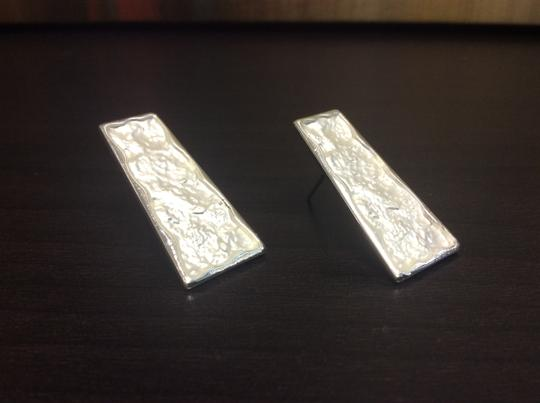 Other Silver Electro Coated Post Earrings Trapezoid Image 5