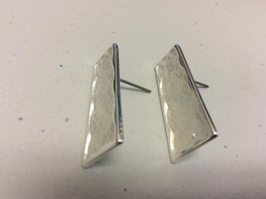 Other Silver Electro Coated Post Earrings Trapezoid Image 7