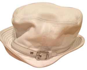 Coach Coach White Leather Hat