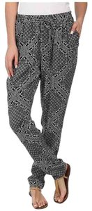 C&C California Athleisure Print Spring Resort Jogger Relaxed Pants Faded Black