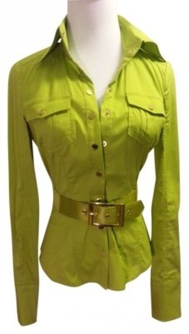 Preload https://img-static.tradesy.com/item/165181/bebe-lime-green-button-down-top-size-0-xs-0-0-650-650.jpg