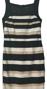 White House | Black Market Striped Party Special Occassion Formal Dress