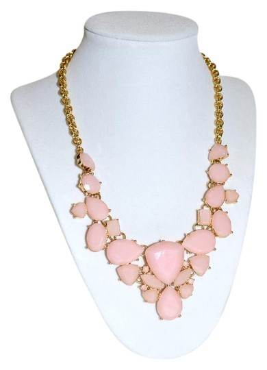 Kate Spade New Kate Spade New York *COLOR POP* Bib Necklace 12K Gold Plated ~Blush Image 0