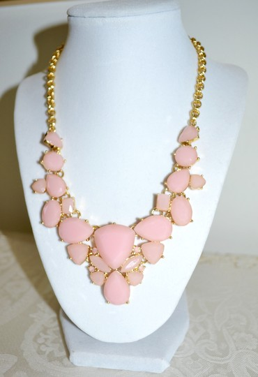 Kate Spade New Kate Spade New York *COLOR POP* Bib Necklace 12K Gold Plated ~Blush Image 1