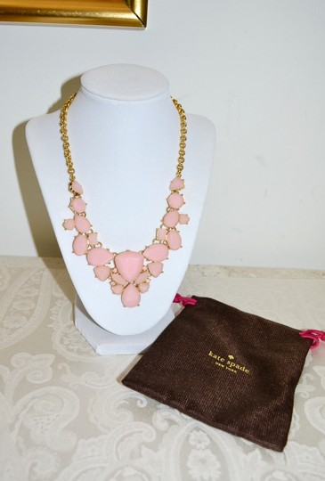 Kate Spade New Kate Spade New York *COLOR POP* Bib Necklace 12K Gold Plated ~Blush Image 2