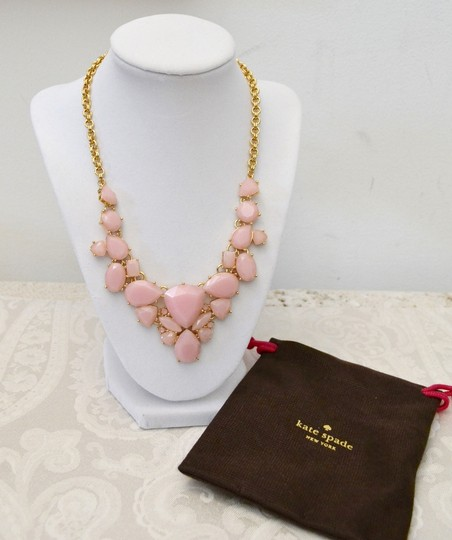 Kate Spade New Kate Spade New York *COLOR POP* Bib Necklace 12K Gold Plated ~Blush Image 3