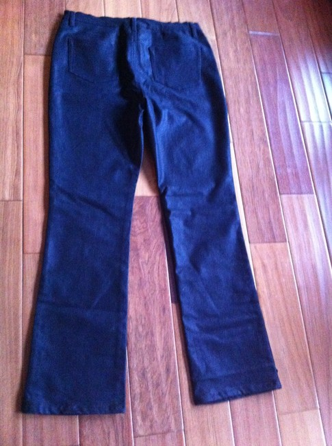 DG2 by Diane Gilman Midnight Black Boot Cut Jeans-Coated
