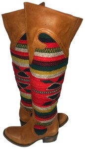 FreeBird Caballero Aztec Wool Cowgirl Size 6 Brown Boots