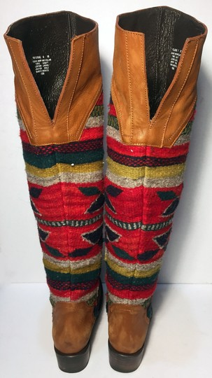 FREEBIRD by Steven Caballero Aztec Wool Cowgirl Size 6 Brown Boots Image 6