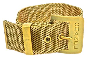 Chanel Vintage Chanel Gold-Plated Belt Style Cuff