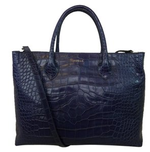 Furla Tote in Purplish Blue