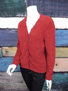 J. Jill Jill Fuzzy Plush Soft Crochet Lambswool Trim Cardigan Sweater