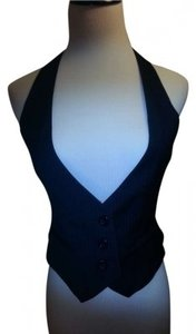 Forever 21 Navy blue with light blue pinstripes Halter Top