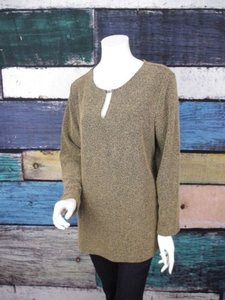 Avenue Boucle Knit Keyhole Openeing Tunic Plus 1416 1x Sweater