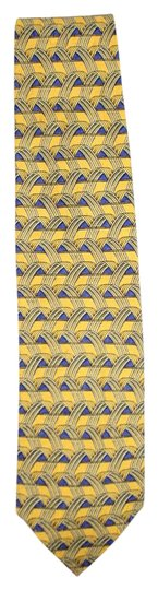Preload https://img-static.tradesy.com/item/16519546/ermenegildo-zegna-yellow-blue-printed-silk-tie-eztty13-0-3-540-540.jpg