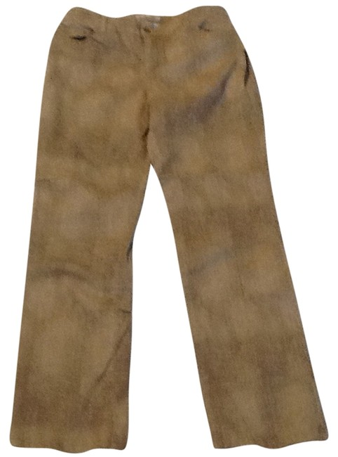 Item - Tan/Brown Coated Platinum Straight Leg Jeans Size 34 (12, L)