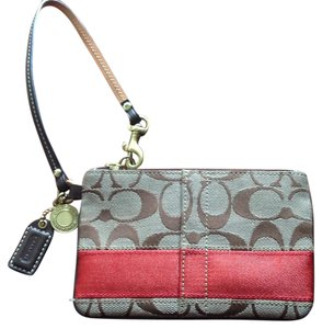 Coach Wristlet in Brown, Red