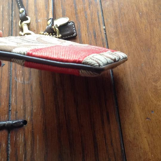 Coach Wristlet in Brown, Red Image 2