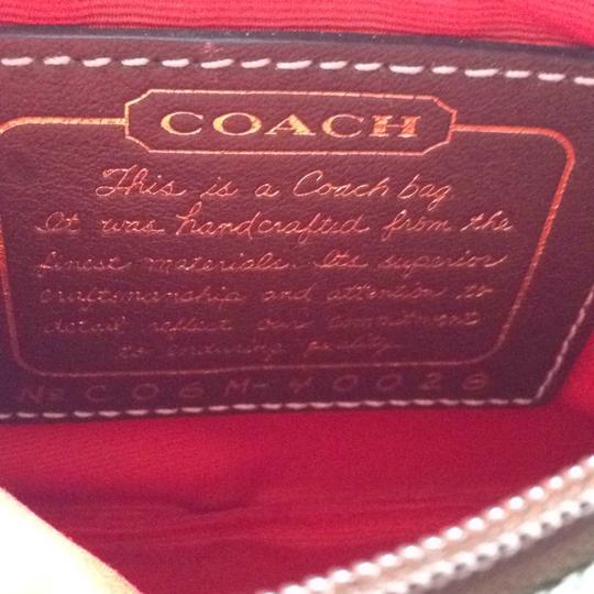 Coach Wristlet in Brown, Red Image 4