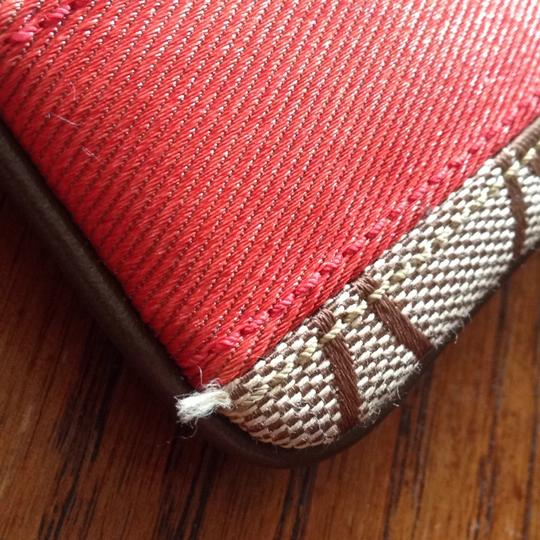 Coach Wristlet in Brown, Red Image 6