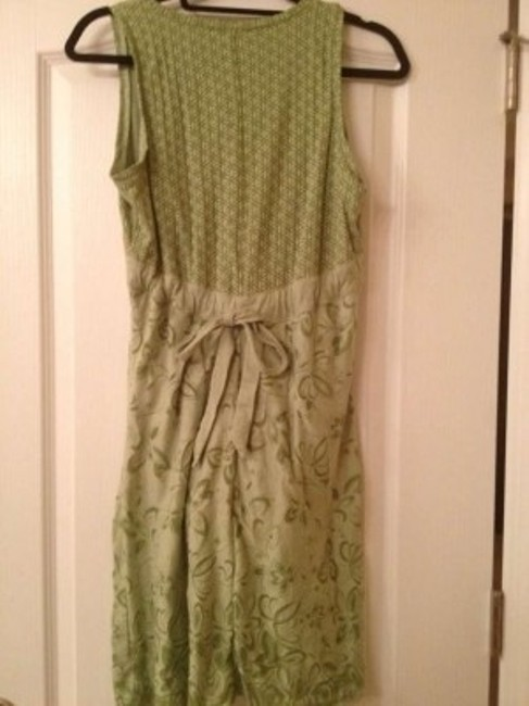 Athleta short dress light green Empire Waist on Tradesy