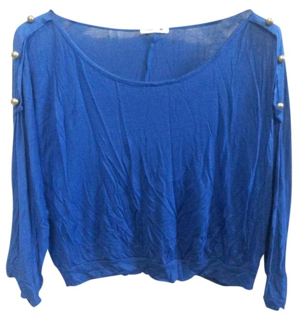 Preload https://item5.tradesy.com/images/modern-edge-blue-gold-buttons-sweaterpullover-size-4-s-1652039-0-0.jpg?width=400&height=650