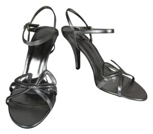 Sonia Rykiel Leather Silver Sandals