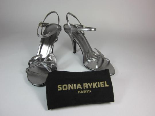 Sonia Rykiel Leather Silver Sandals Image 1