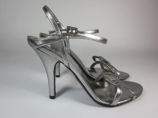 Sonia Rykiel Leather Silver Sandals Image 2