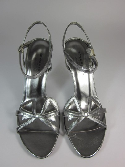Sonia Rykiel Leather Silver Sandals Image 3