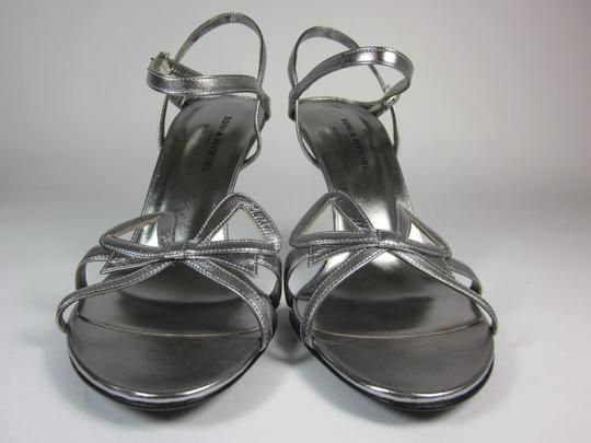 Sonia Rykiel Leather Silver Sandals Image 4
