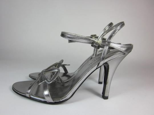 Sonia Rykiel Leather Silver Sandals Image 5