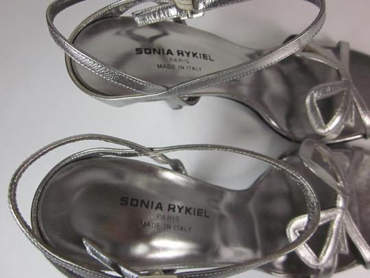 Sonia Rykiel Leather Silver Sandals Image 7