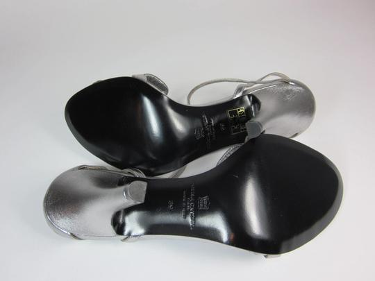 Sonia Rykiel Leather Silver Sandals Image 9