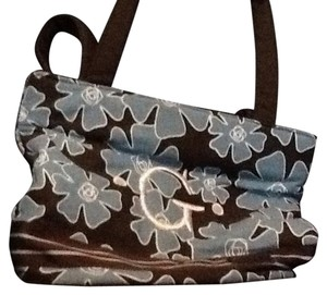 Tote in Brown, Blue, White
