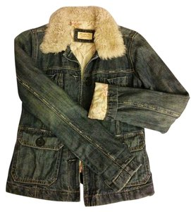 Abercrombie & Fitch Classic Fit Lined Fur Denim Womens Jean Jacket