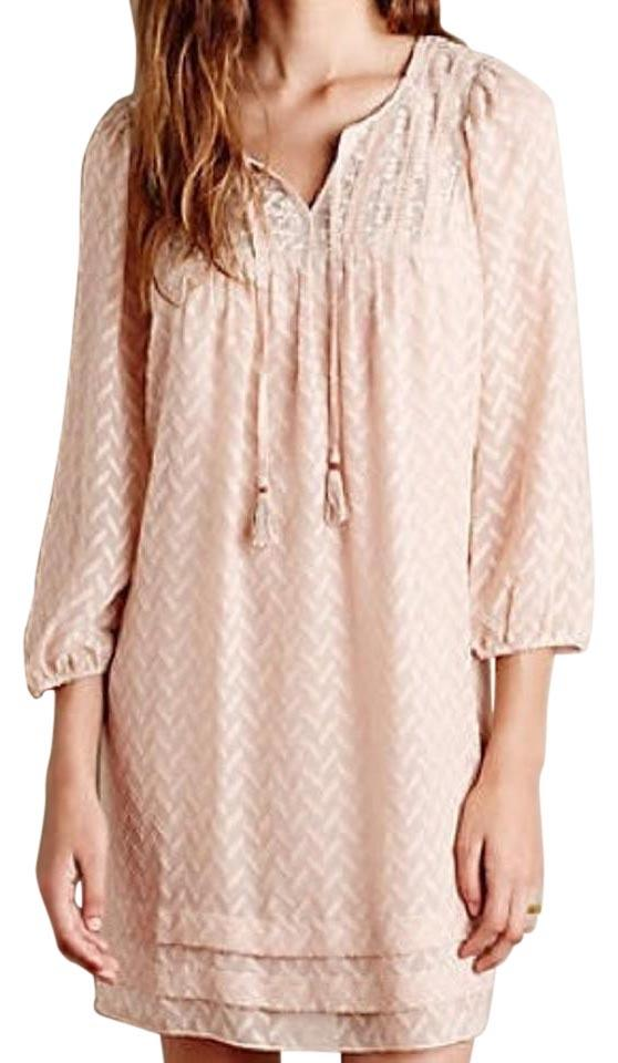 0fdbad55530ac Anthropologie Pink Anwen Peasant By One.september Above Knee Short ...