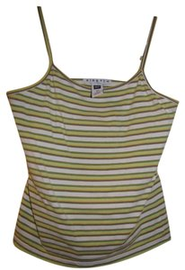 Gap Striped Top Green, Yellow, White