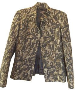 Zanella Italian-made Black and Gold Blazer