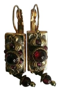 Michael Golan Michael Golan Vintage Signed Garnet earrings