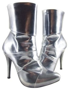 El Dantés Silver Or Pewter Patent Leather Moon Boots