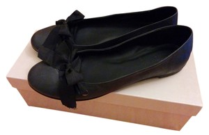 J.Crew Lace Ballet Leather Italian Italy Black Flats