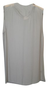 Elie Tahari Silk Dryclean Only Pleated Top Taupe