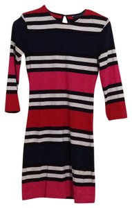 French Connection short dress Navy, white, pink, red on Tradesy