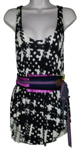 A Common Thread Multicolor Top BLACK PURPLE PINK