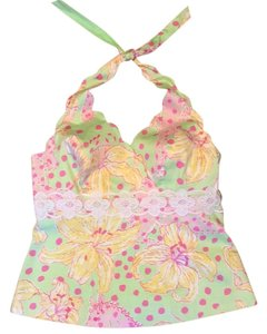 Lilly Pulitzer Top Green, Pink, White