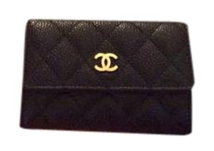Chanel Chanel Caviar Card Case Gold Hardware Box, Dustbag, Tag and Auth. Card