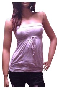 Abercrombie & Fitch Strapless Yoga Summer Aerobic Top Gray