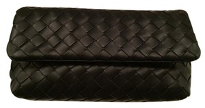 Bottega Veneta Cosmetic Case Black Clutch
