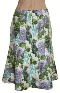 Ann Taylor Floral Print Knee Length Skirt